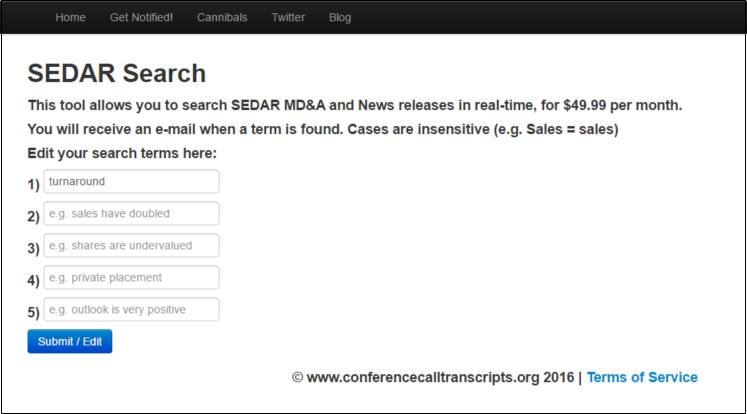 Sedar Search